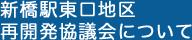 新橋駅東口地区再開発協議会について